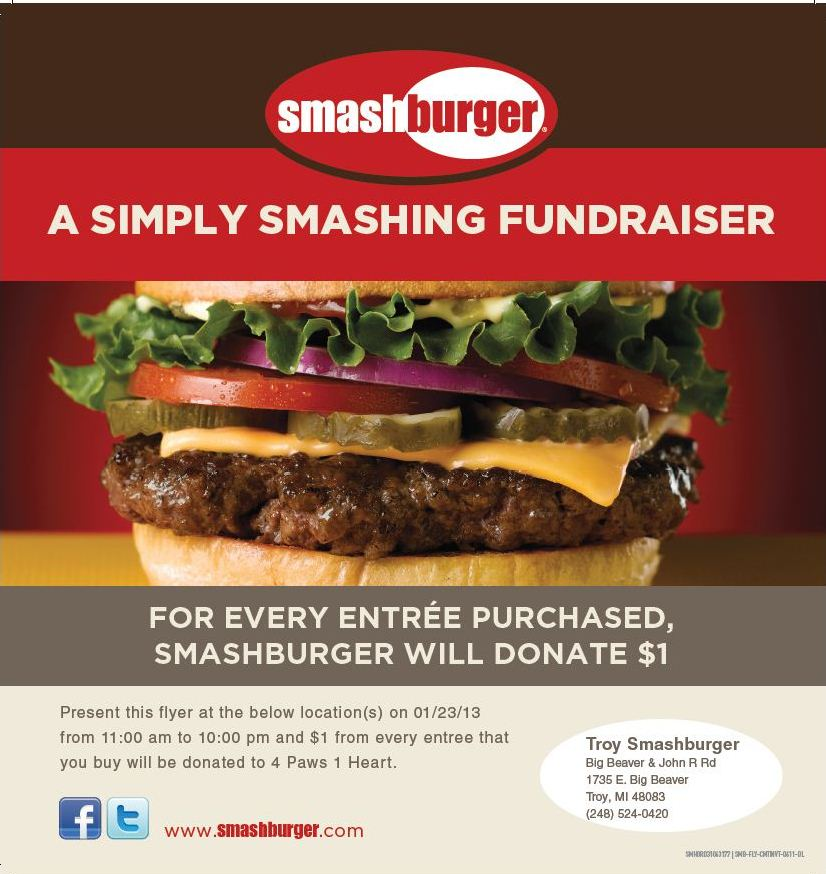 smash burger january 23 2013 4 paws 1 heart rh 4paws1heart org