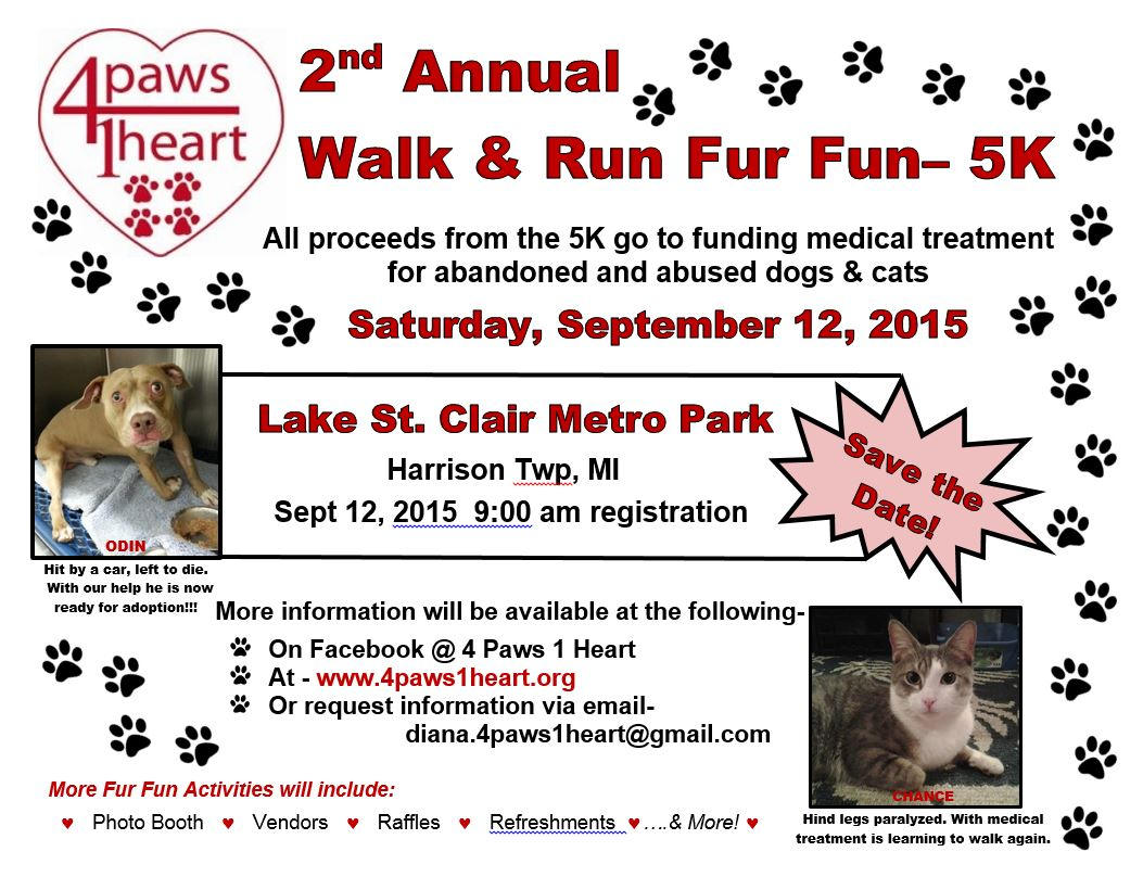 Upcoming Fundraisers – 2015 | 4 Paws 1 Heart