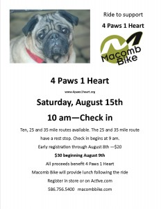 Pedal for Paws 2015