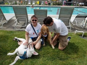 tari Kern, Chris, and Hercules at 5k 2017